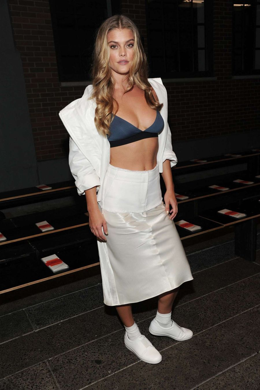 Nina Agdal - D K N Y's SS 2017 Show in New York City