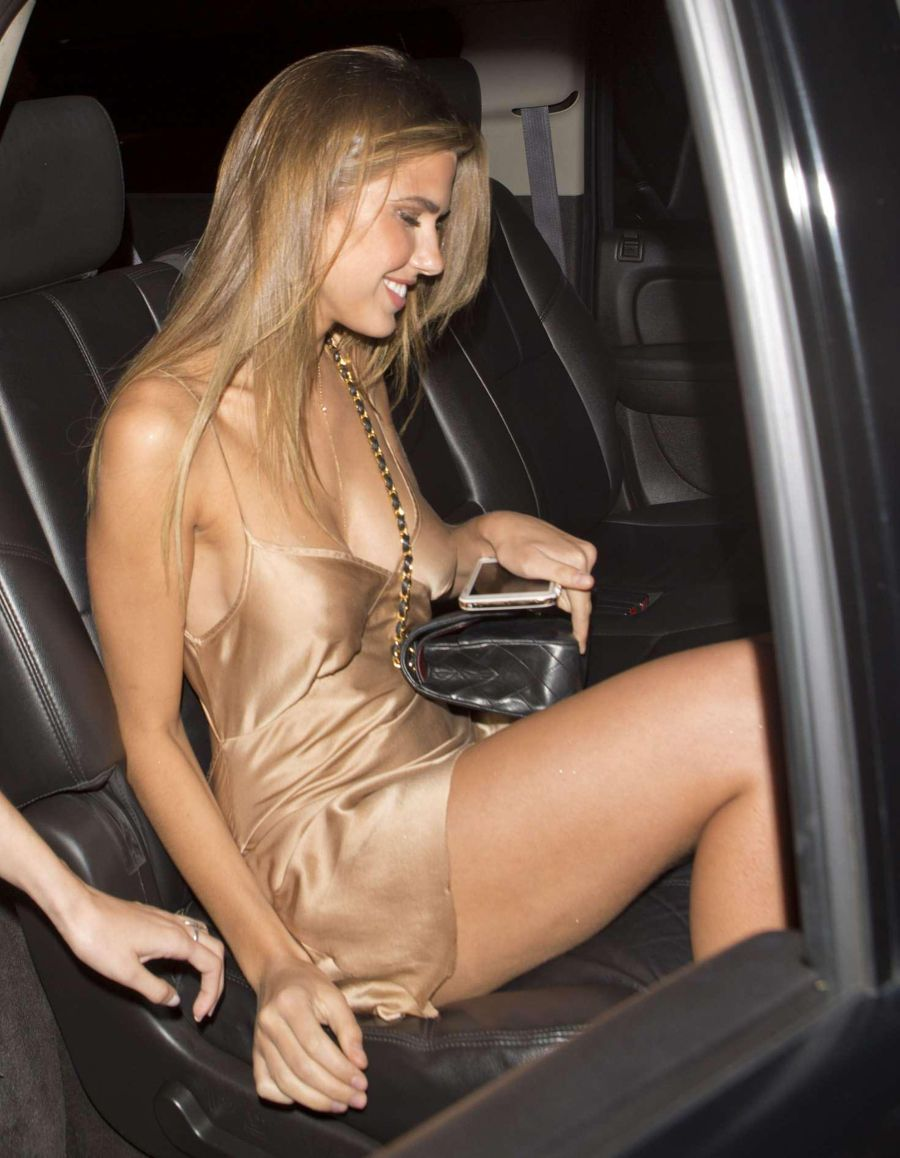 Kara Del Toro in a Silky Dress Is Pure Gold