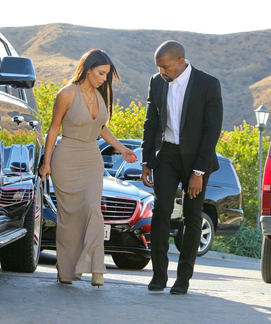 Kim Kardashian at her friend's wedding in Simi Valley