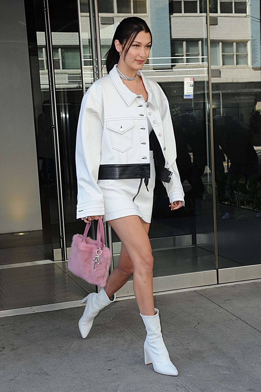 Bella Hadid In White Boots Out In New York City Page 2