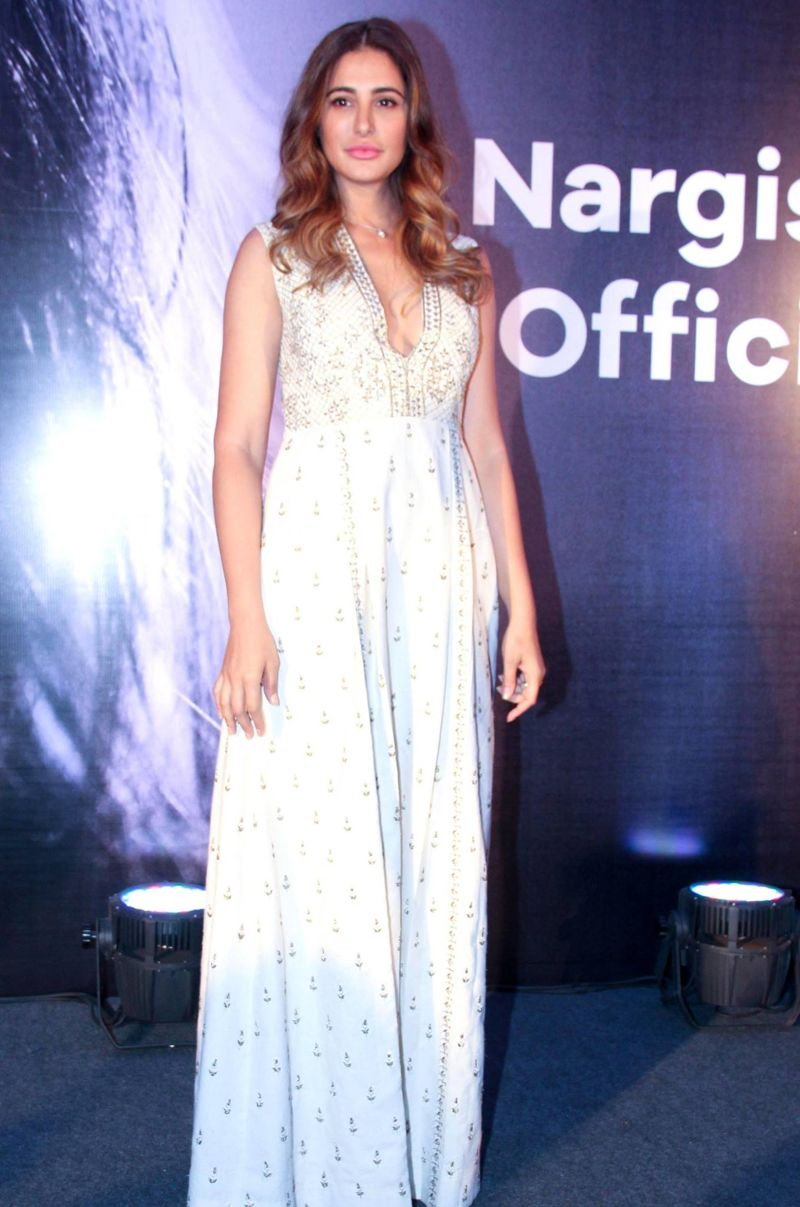 Nargis Fakhri Launches her Own Mobile App in Mumbai