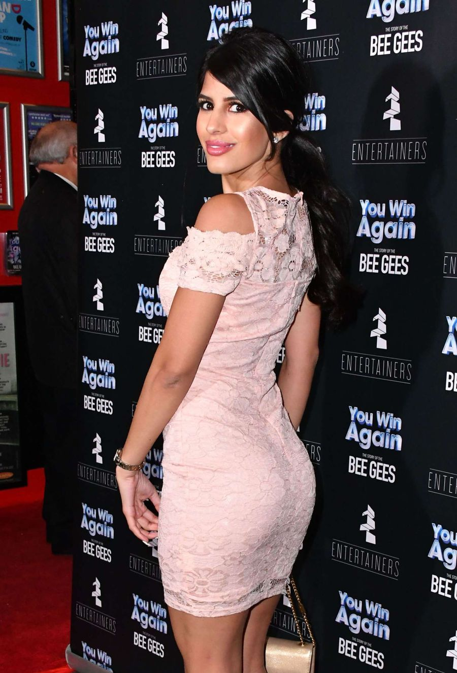 Jasmin Walia at the Bee Gees Film Premiere in London