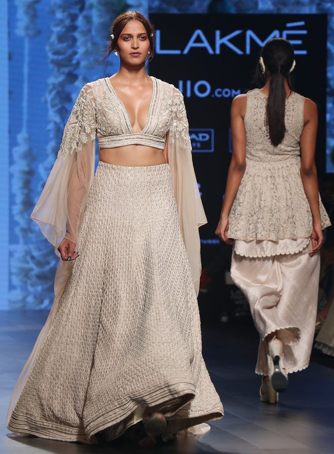 Nimrat Kaur walked for designer duo Sonam and Paras Modi
