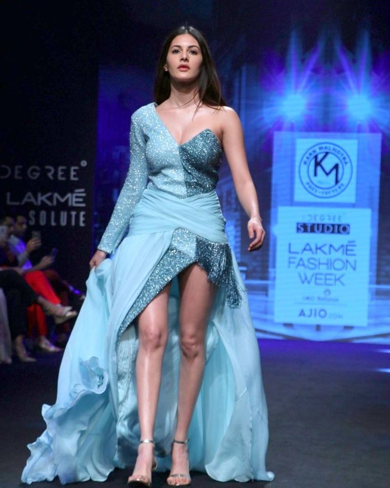 Amyra Dastur during her show at Lakme Fashion Week
