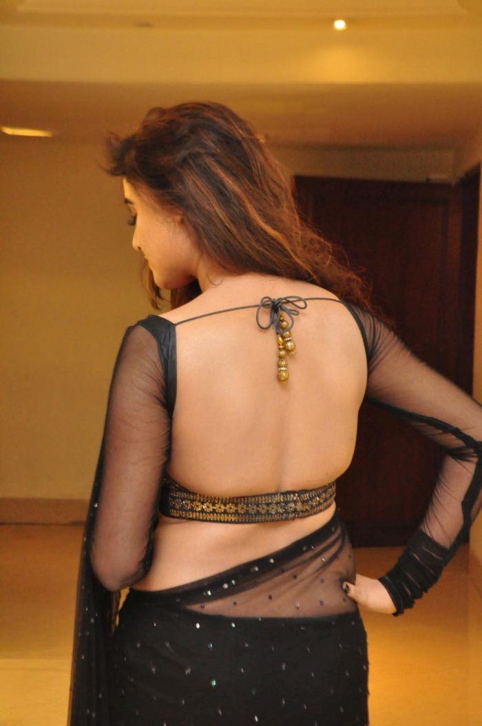 Sony Charishta Looks Gorgeous in Black Saree