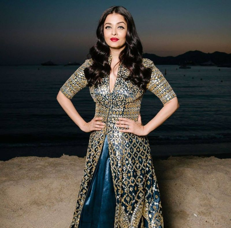 "Aishwarya Rai Bachchan during the ""Devdas"" show in Cannes"