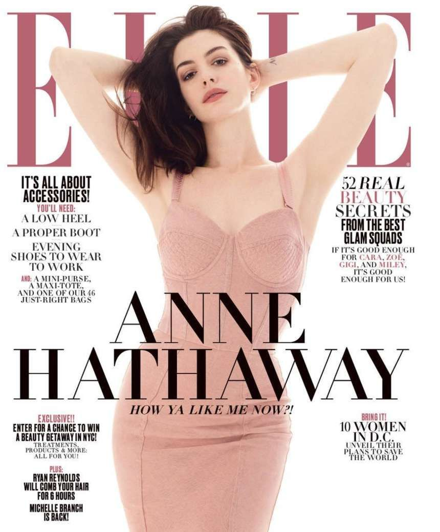 Anne Hathaway - Elle US Magazine (April 2017)
