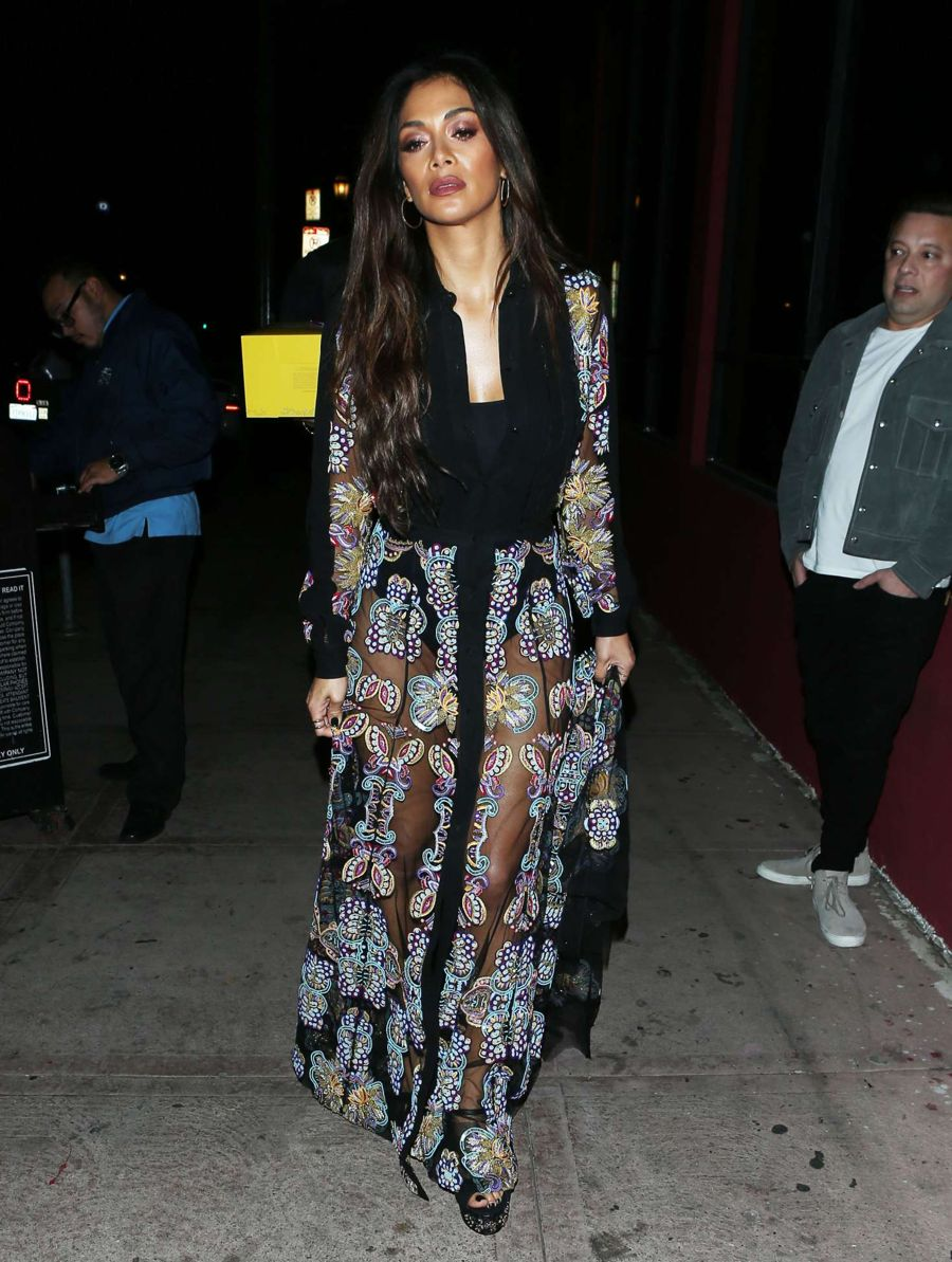 Nicole Scherzinger in Long Dress out in Hollywood