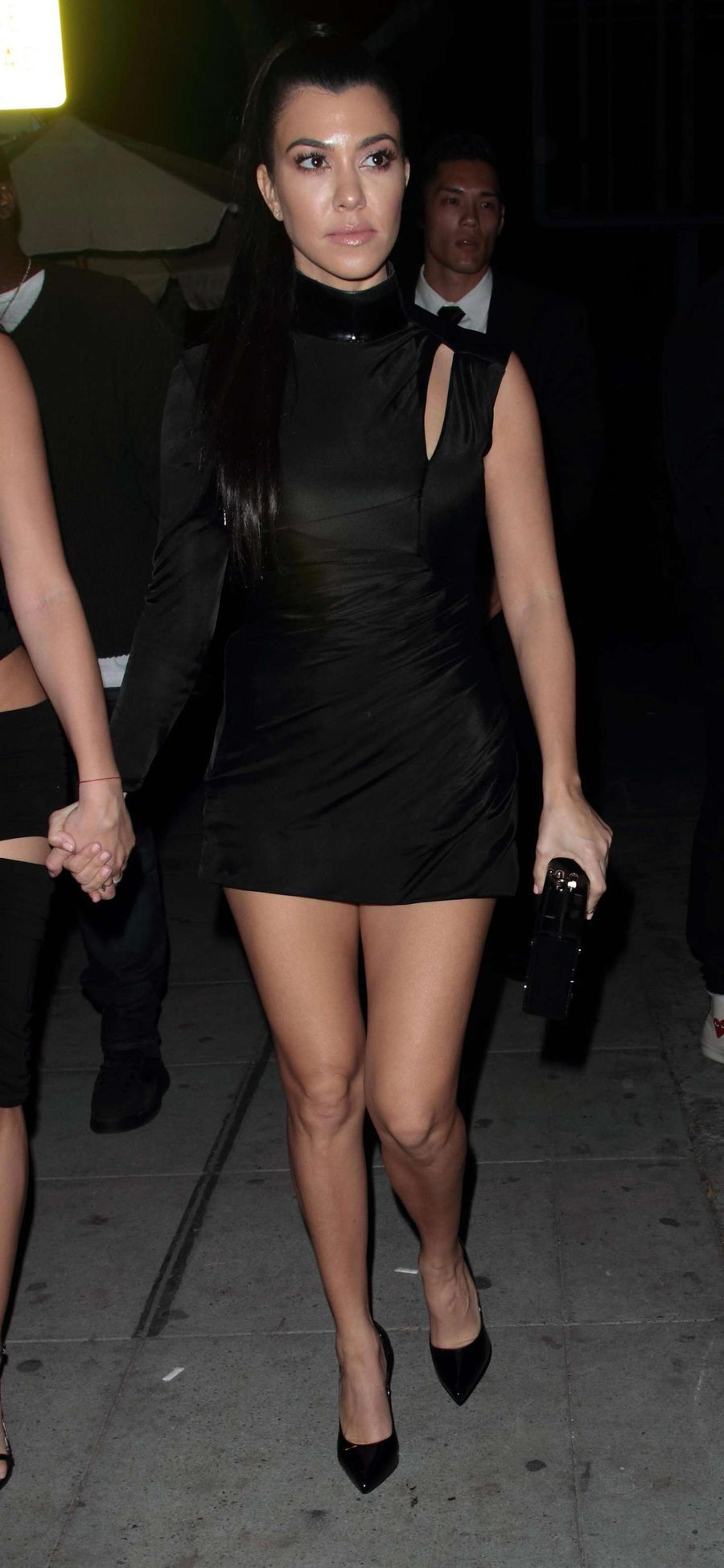 Kourtney Kardashian in a little black dress at Delilah