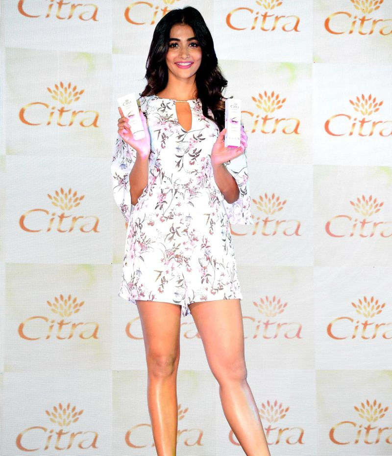 Pooja Hegde Graces the Launch of Citra Cosmetics in Mumbai