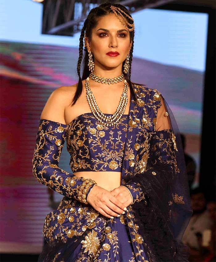 Sunny Leone is a royal bride in blue