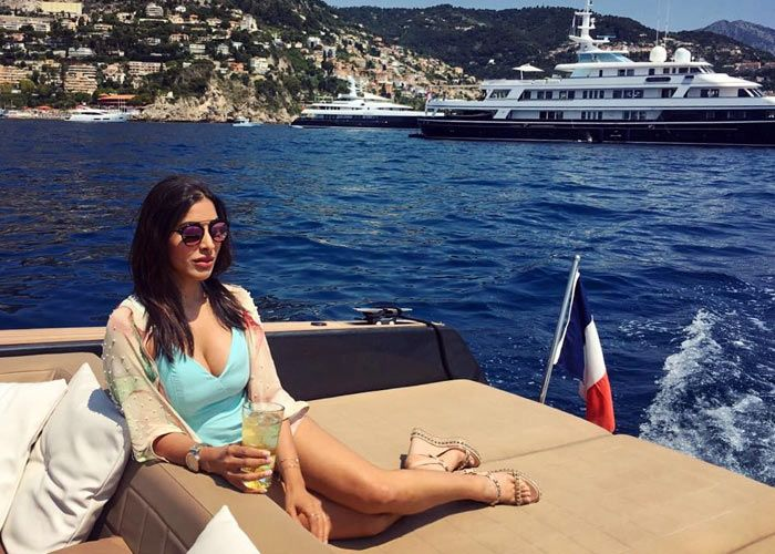 Sophie Choudry's breezy Monaco holiday