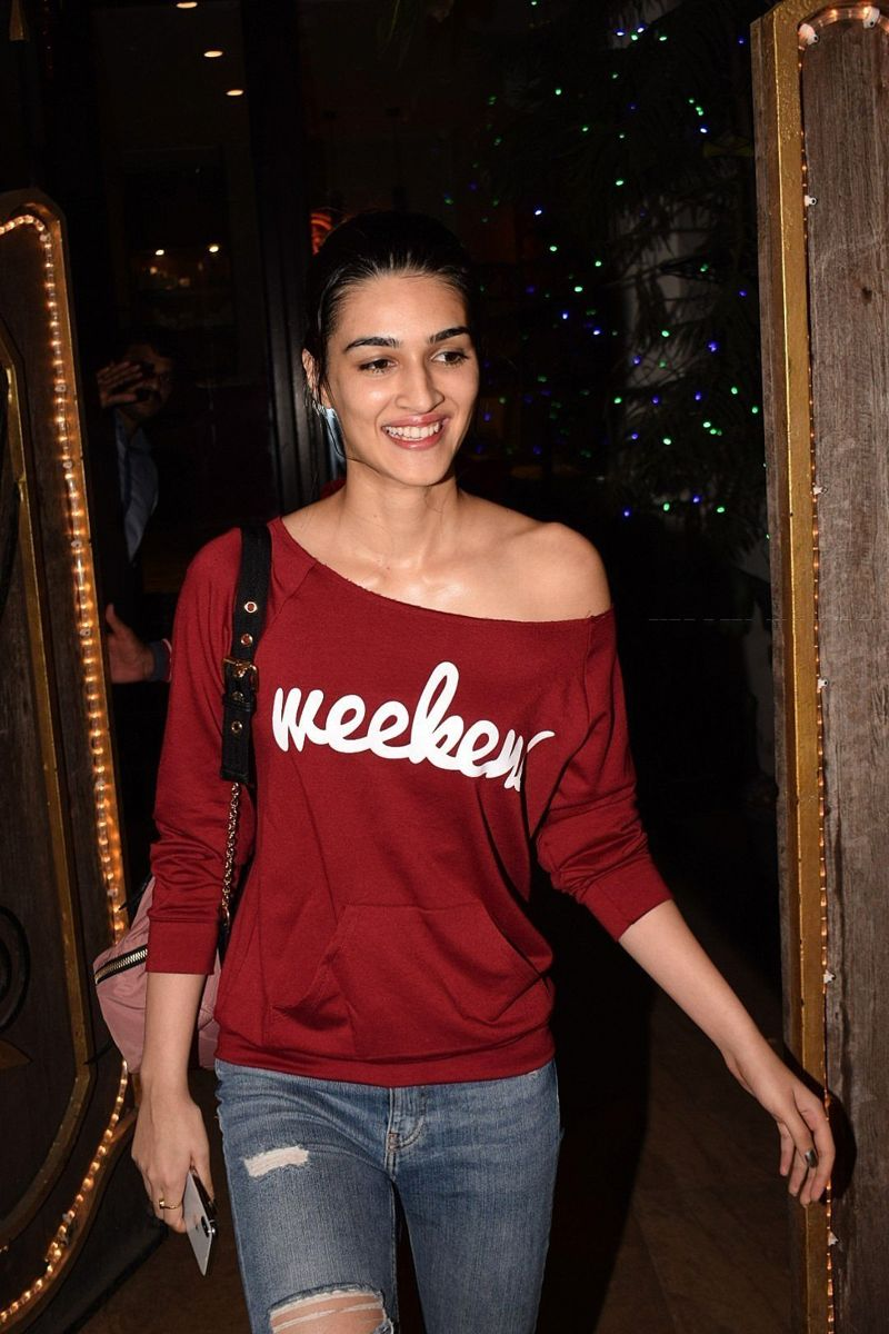 Kriti Sanon Spotted At Spa In Juhu