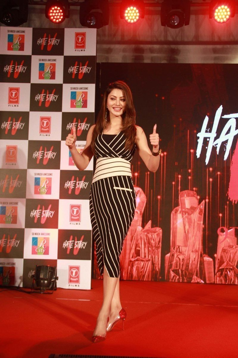 Urvashi Rautela - Hate story 4 music concert at R city mall