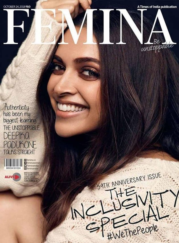 Deepika Padukone graces the cover of Femina Magazine