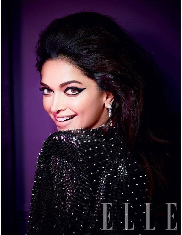 Deepika Padukone poses for ELLE