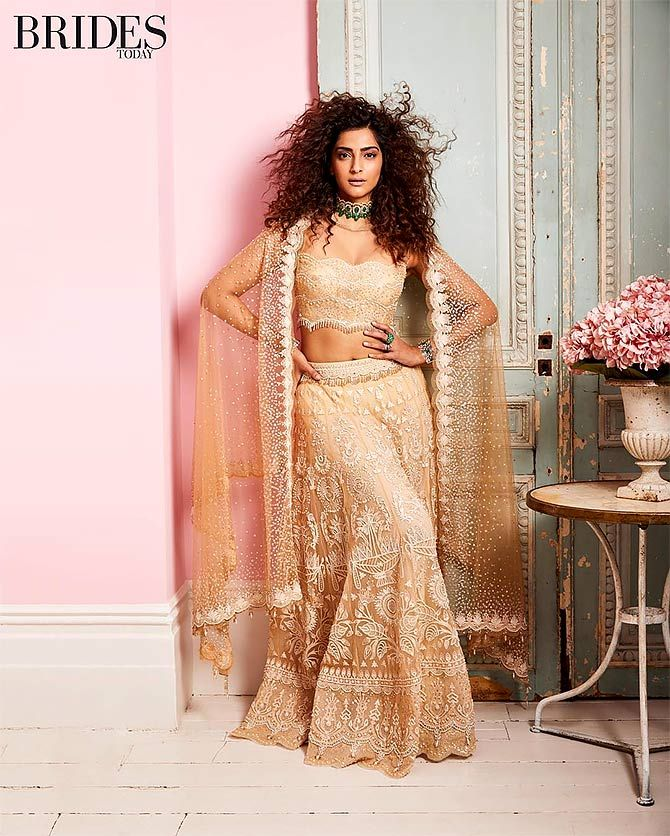 Sonam Kapoor at Brides Today's cover