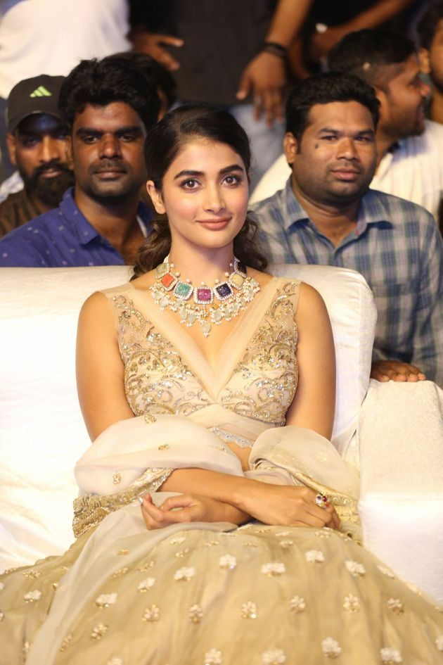 Pooja Hegde at Maharshi Pre Release Event