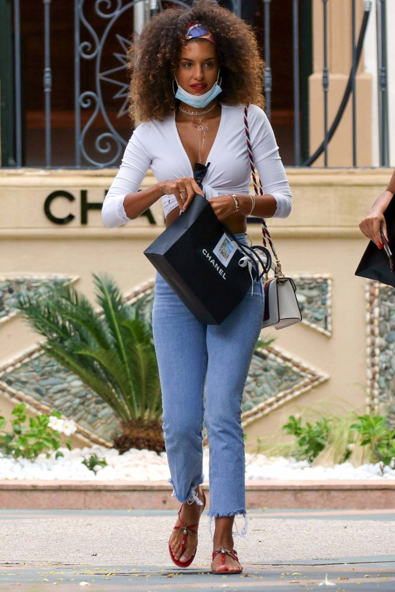 Jessica Aidi – Shopping at Chanel store in Saint-Tropez
