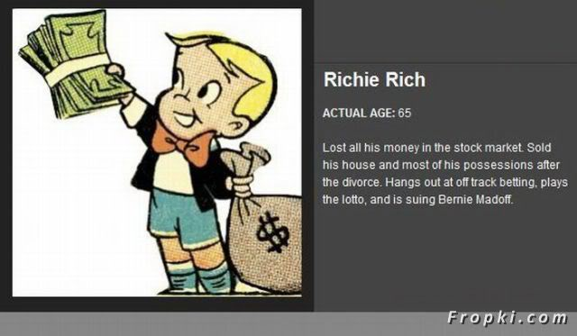 Age of Famous Cartoon Characters