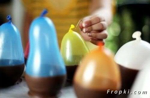 How to Make Chocolate Ice-cream Cups Using Balloons