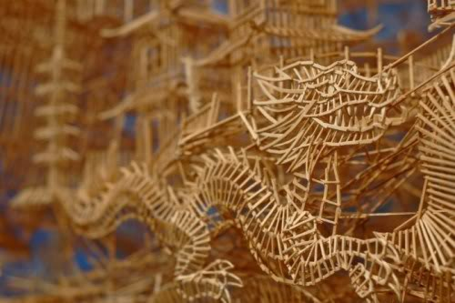 Unusual Sculptures Constructed from 100,000 Toothpicks