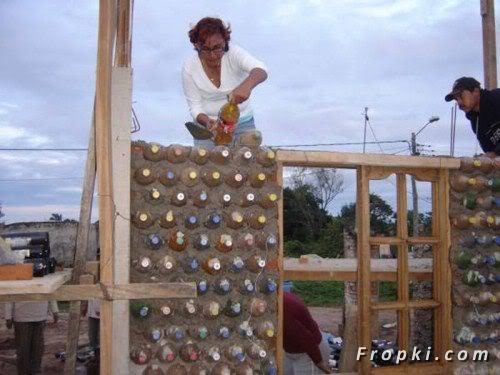 House Made Of Empty Glass Bottles