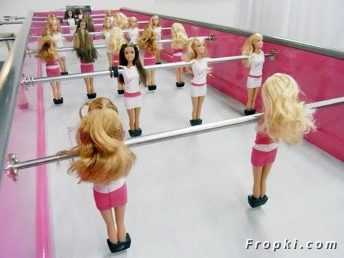 When Barbie Plays Football