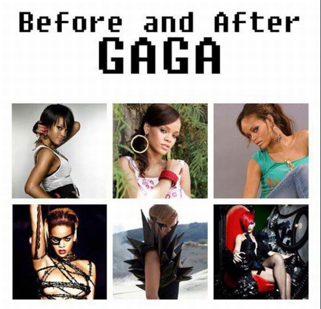 Before аnd After Gaga