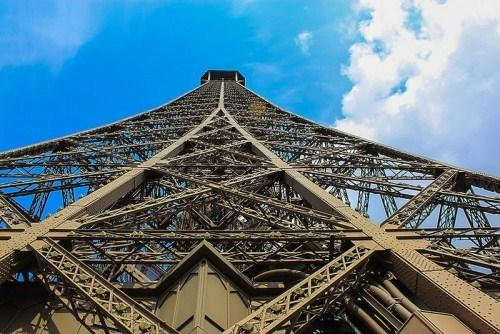The Iconic Eiffel Tower from Below