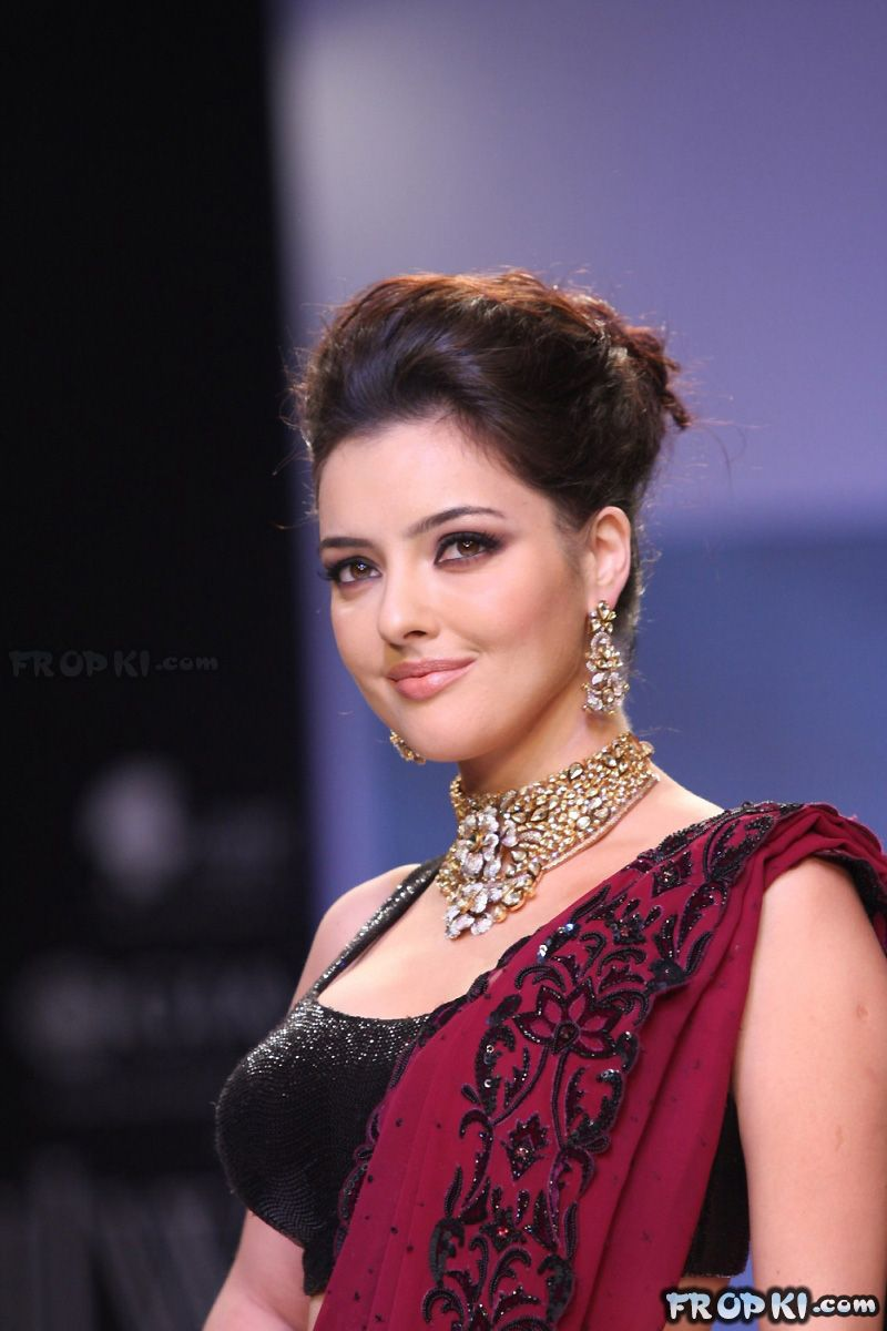Kristina Akheeva Walks For 'Zayna's at IIJW