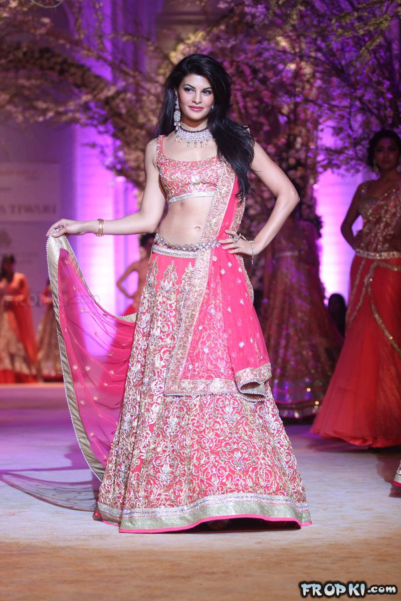 Jacqueline Fernandezn at India Bridal Fashion Week