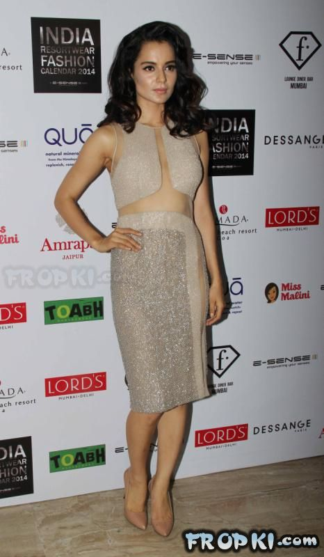 Kangana at Resortwear Fashion Calendar 2014 Launch