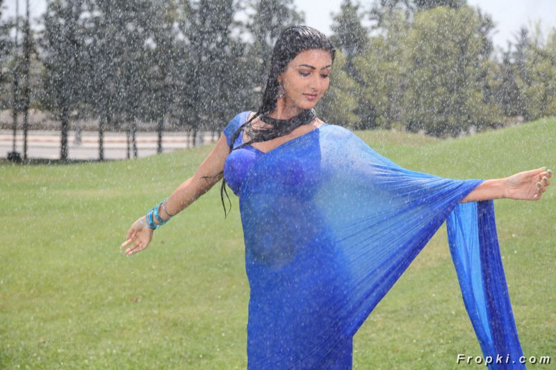 Neelam Upadhyay Sizzles in Blue Saree
