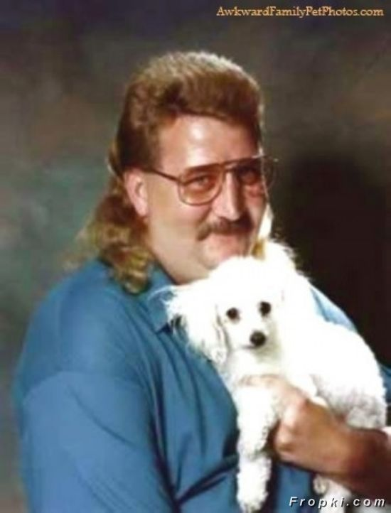 Creepy Guys With Their Pets