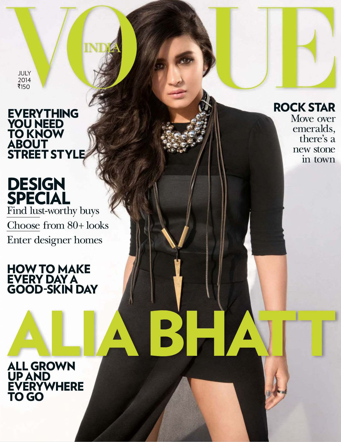Alia Bhatt Vogue Magazine July 2014