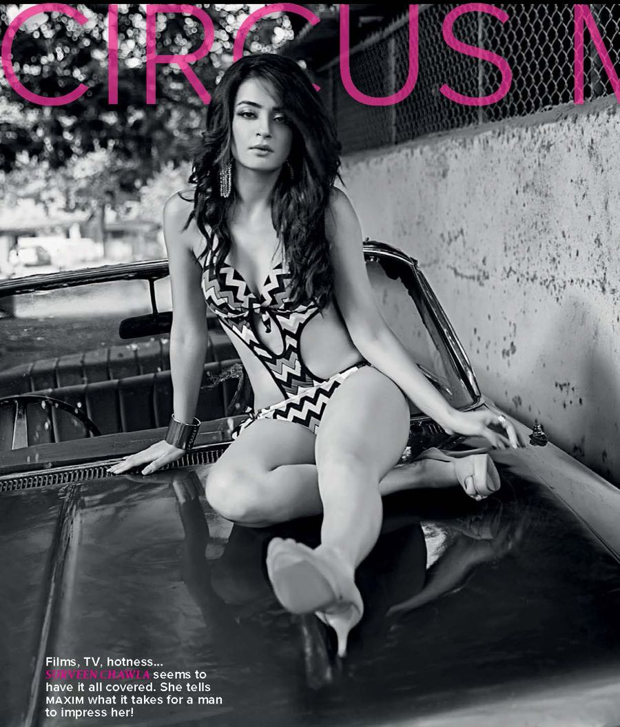 Surveen Chawla in Two Piece For Maxim Magazine