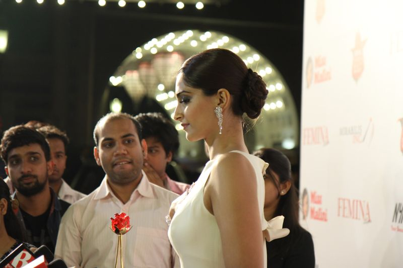 Sonam Kapoor at the Femina Beauty Awards night