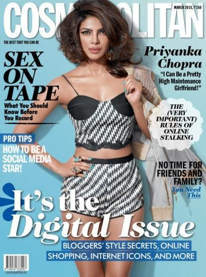 Priyanka Chopra Photoshoot for Cosmopolitan India Magazine