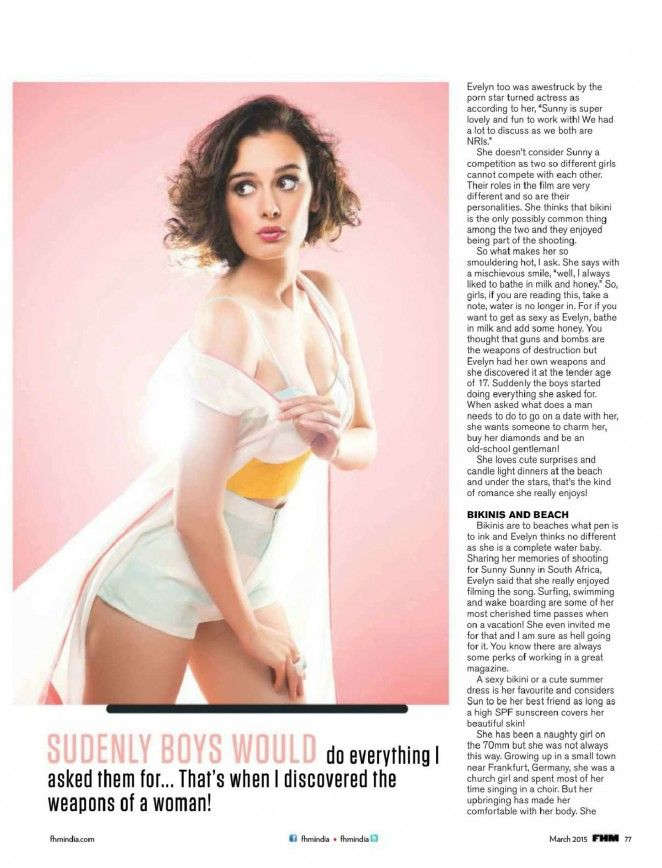 Evelyn Sharma – FHM India (March 2015)
