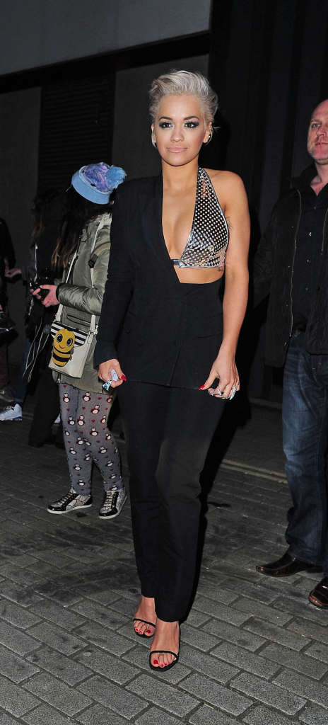 Rita Ora - Spotted While Arriving at 'The Scotch' in London