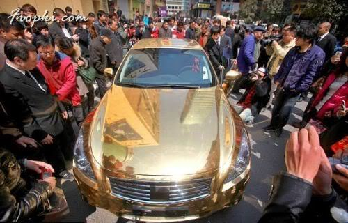 Sports Car made of Pure Gold