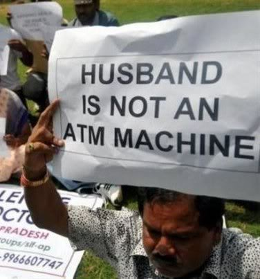 'Not an ATM' Protest by a Frustrated Husband