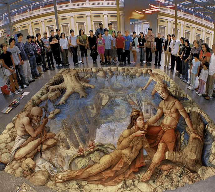 3D Paintings on Roads and Pathways