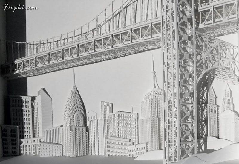 Highly Detailed Paper Relief Sculptures