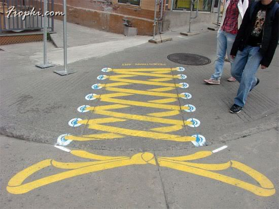 Jokes Painted on the Road