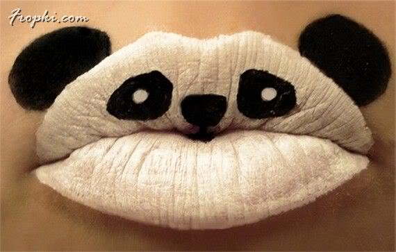 Crazy Girls with Unique Lip Paintings