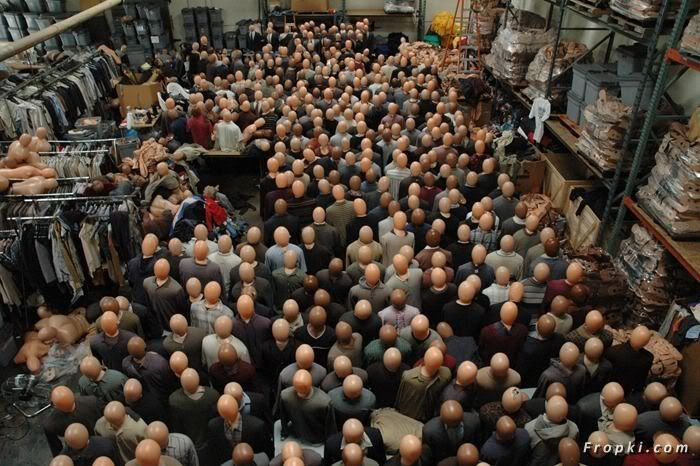 Fake Plastic Crowds You See in Movies