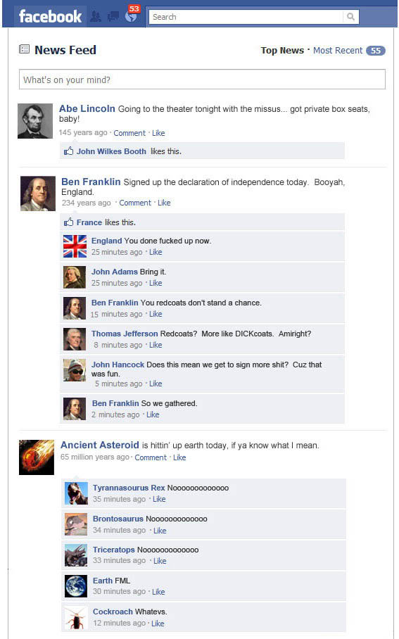 If History Had Facebook