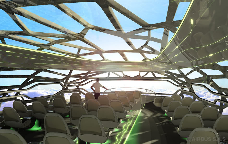 Airbus Unviels Transparent Airplane